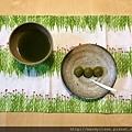 吃茶糰子佐抹茶梅酒