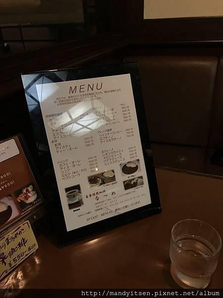 喫茶なつめ menu