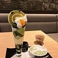 宇治抹茶ロールパフェ(抹茶蛋糕捲聖代)