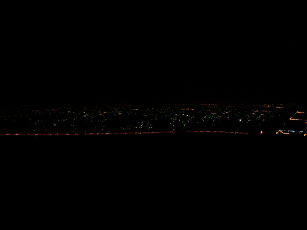 南投猴探井的夜景