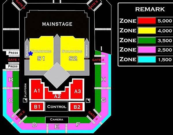 座位圖+票價