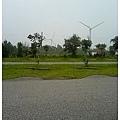 香山濕地沒去成  只好看風車吃零食