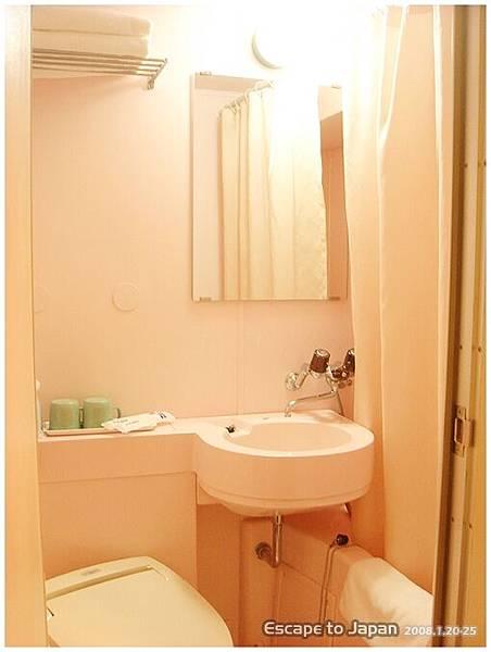 旅館的浴室很粉紅