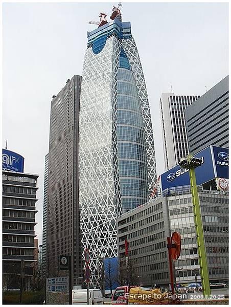 新宿某棟還在蓋的大樓