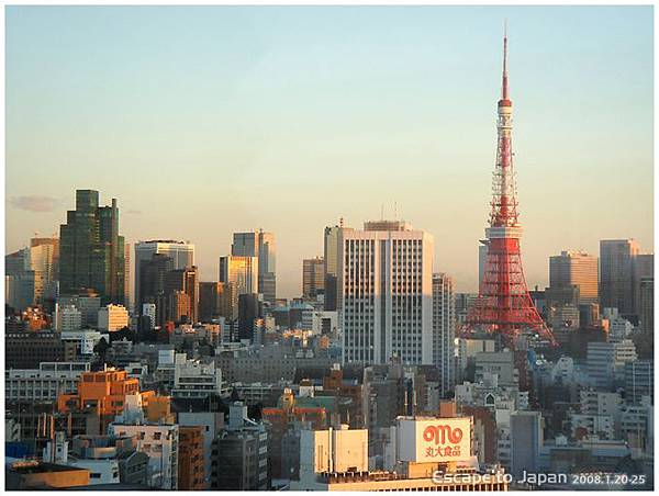 清晨的東京鐵塔