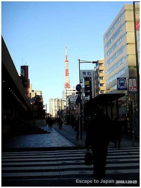 在轉車路上看見的東京鐵塔