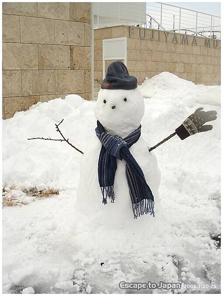堆起了雪人
