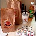 今天吃Burger king