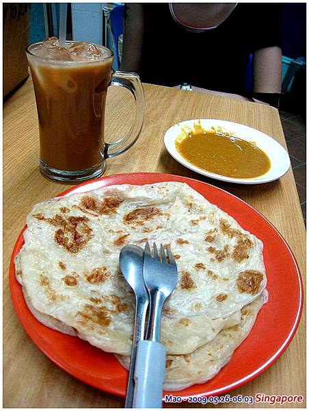 印度拉餅很好吃  奶茶也是