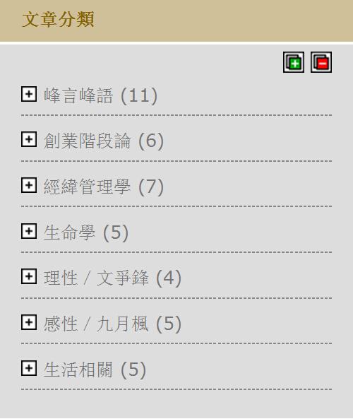 峰言峰語的分類