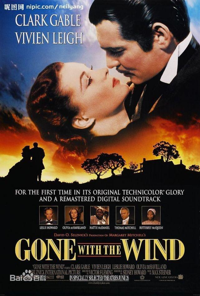 Gone with the Wind 乱世佳人(1939,IMDB 8.2)
