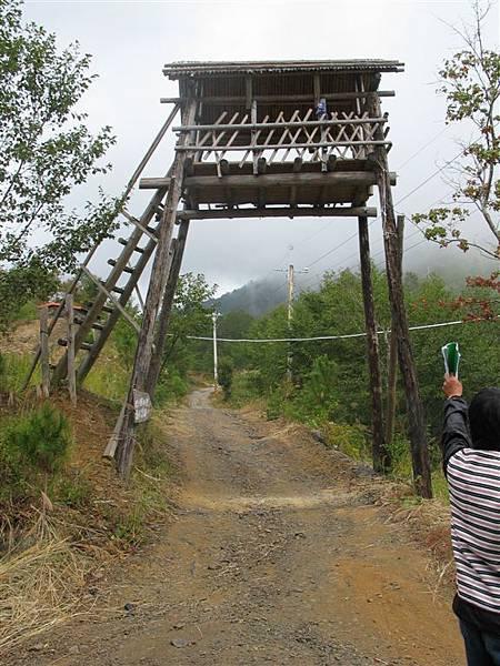 瞭望台,以前部落用來觀察獵人在山上的方位