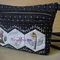 手縫拼布貼花斜背包-2