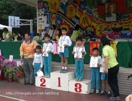 三年級男生組80公尺頒獎