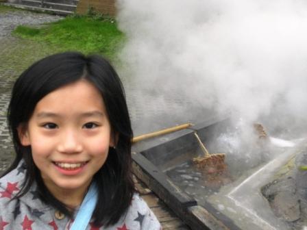 鳩之澤_仿火山溫泉煮蛋槽