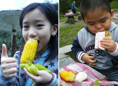 吃溫泉蛋&香Q玉米