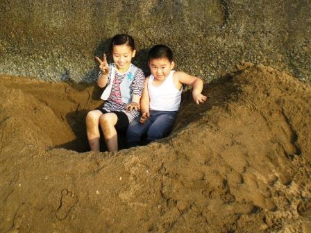 淺水灣海邊堆砂