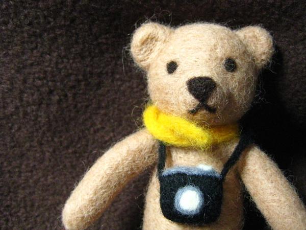 愛拍照的小熊