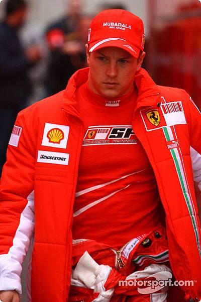 Kimi in 2007 winter test