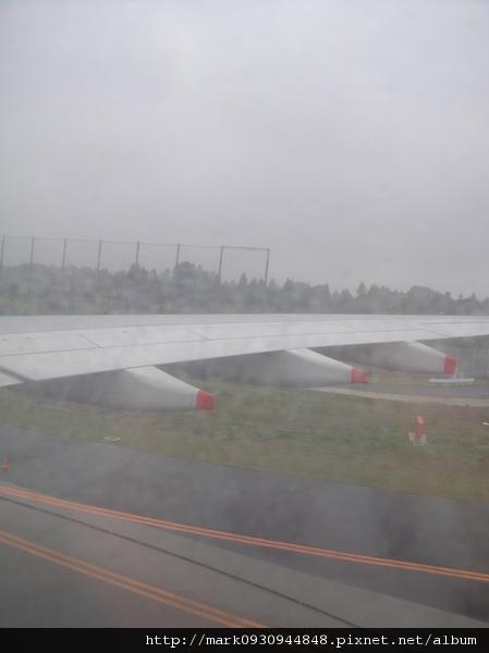日本當地下過雨地上溼溼的,不過後面幾天天氣超好