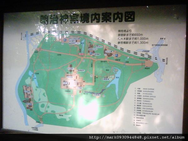 明治神宮境內地圖