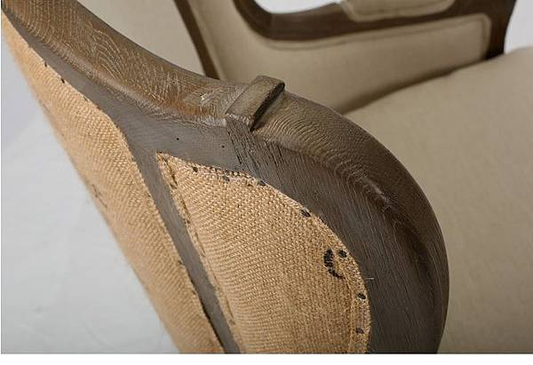 法式麻布印花沙發椅3