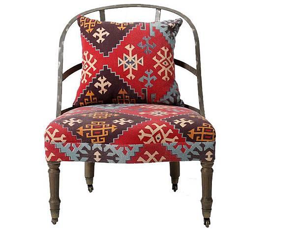 英式帶輪鐵背椅