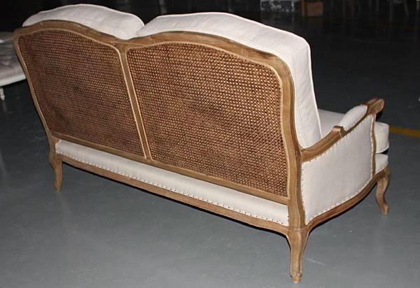 法式雙人籐編椅背沙發4