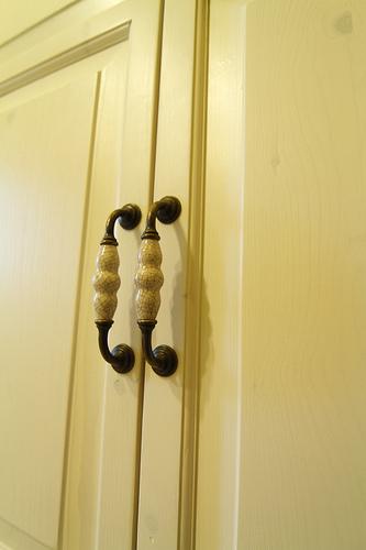 主臥衣櫃門特寫~~~真材實料的原木質感