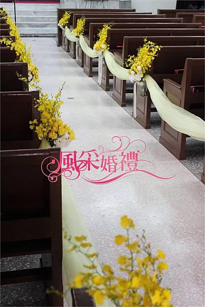 六福皇宮-繽紛粉白色系-教堂佈置