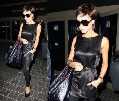 Victoria Beckham Arriving at LA International Airport