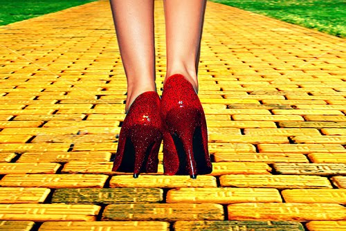 Wizard of Oz red shoes yellow road