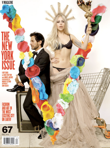Laday-GaGa-Marc-Jacobs-New-York-V-Magazine-Nicola-Formichetti-style-fashion-noir