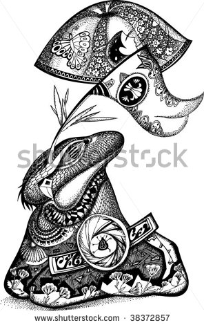 stock-vector-fairy-tale-frog-vector-art-illustration-on-a-white-background-38372857