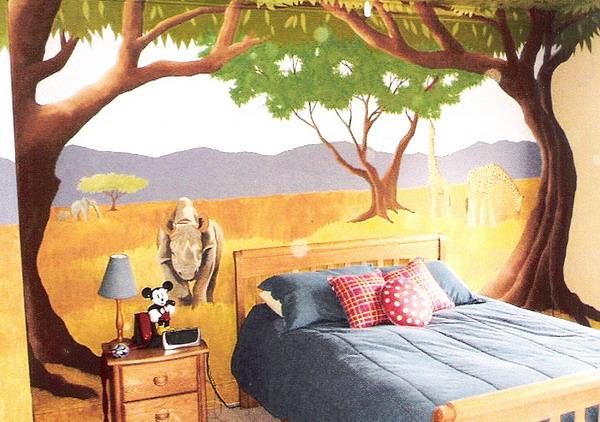 African-Kids-Murals-Room