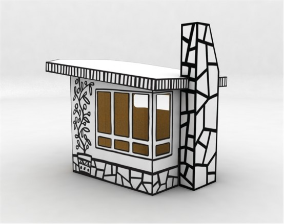 Cardboard-play-house-Villa-Julia-by-Magis-2-554x438