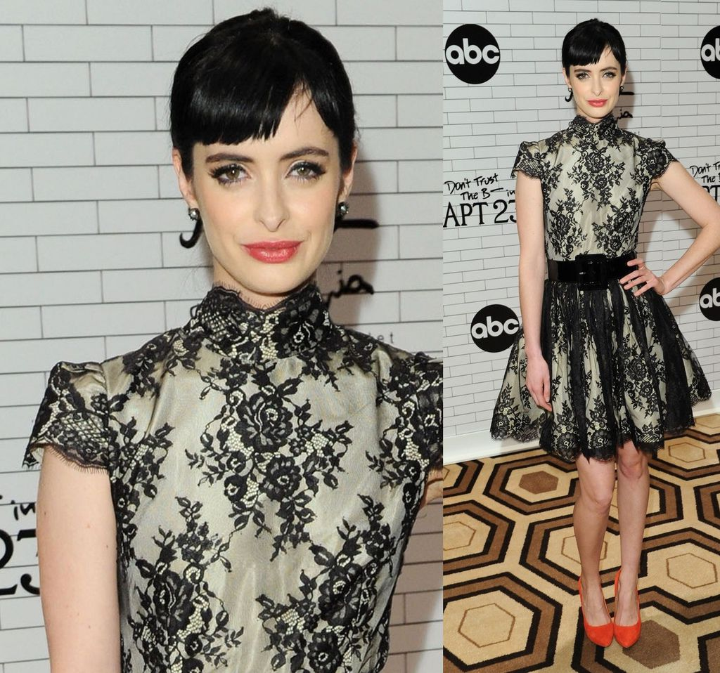 krysten ritter in alice and olivia - Don't Trust the B—- in Apartment 23 screening.jpg