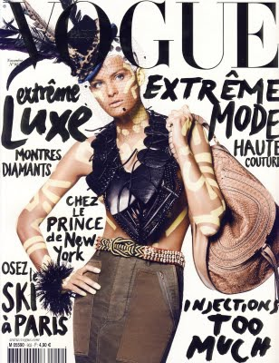 November 2009 French Vogue cover photo David Sims stylist Carine Roitfeld makeup Lucia Pieroni hair Guido Palau model Isabeli Fontana Women Management New York City Blog COVER.jpg
