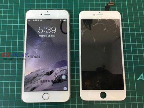 iphone6+面板一不小心就破了