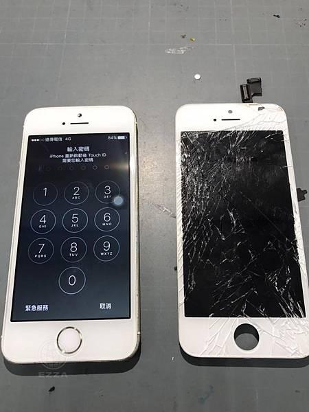 IPHONE 5S第二次摔破