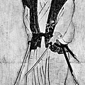 Musashi, self in 'happo biraki' (open-on-all-8-sides) posture c1640.jpg