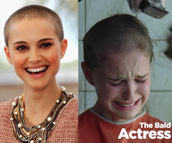 THE BALD-Natalie Portman