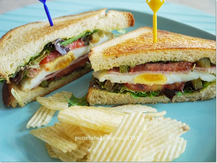 34火腿三明治