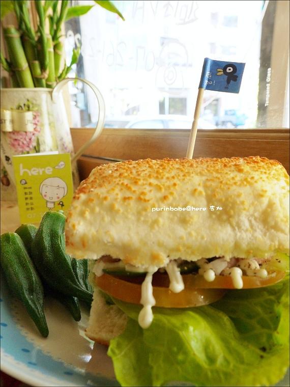 32燻雞青醬乾酪三明治1