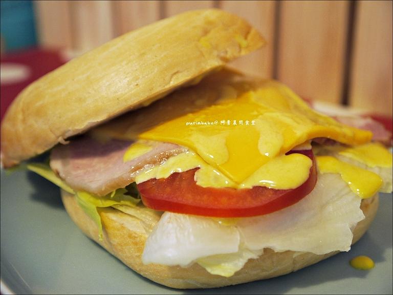 23里肌肉生菜貝果三明治2