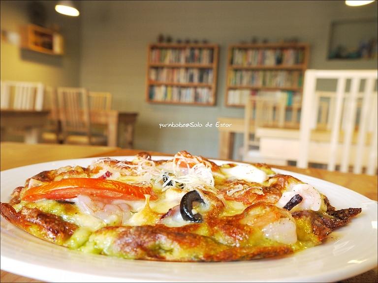 31六吋青醬海鮮披薩1