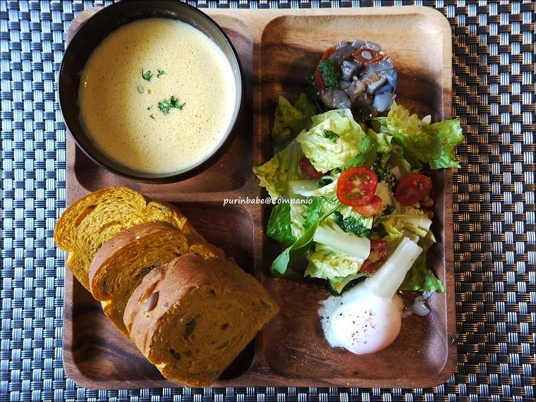 30麵包餐:法式玉米濃湯,南瓜吐司
