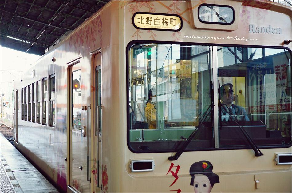 4京福電鐵進站2