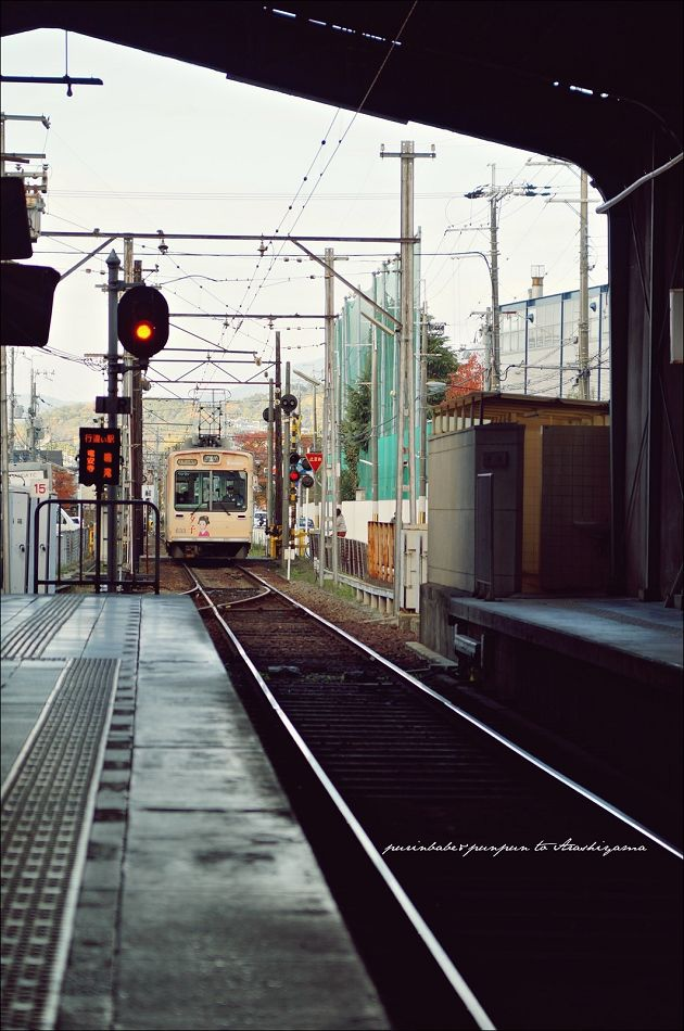 3京福電鐵進站1