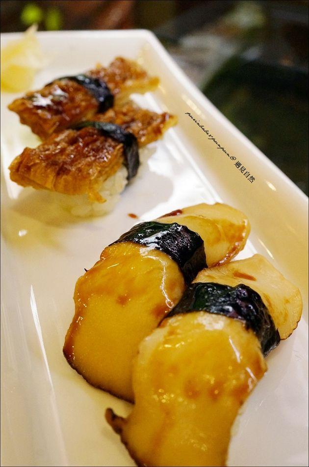 28鮑魚鰻魚握壽司